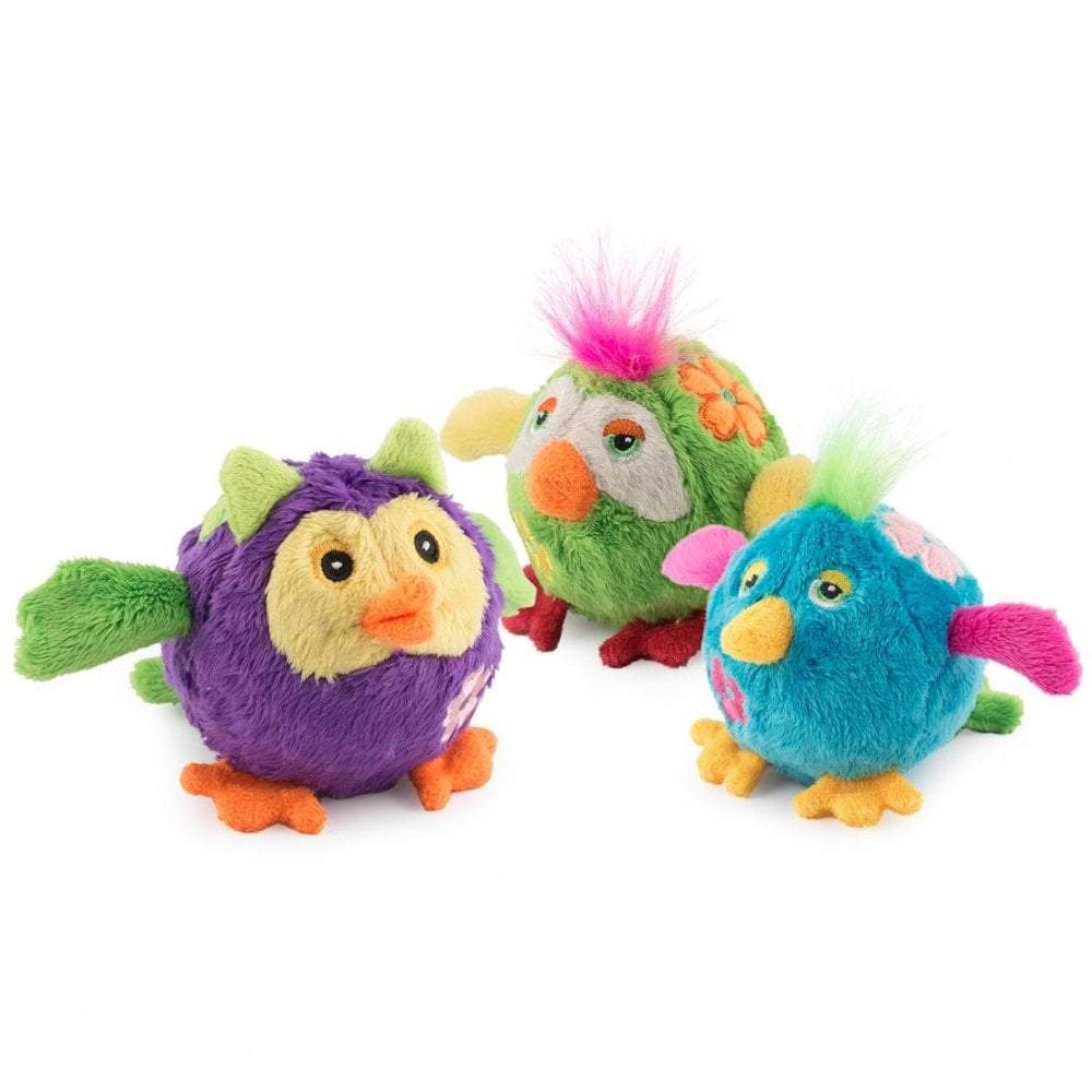Ancol bouncing flower birds toy