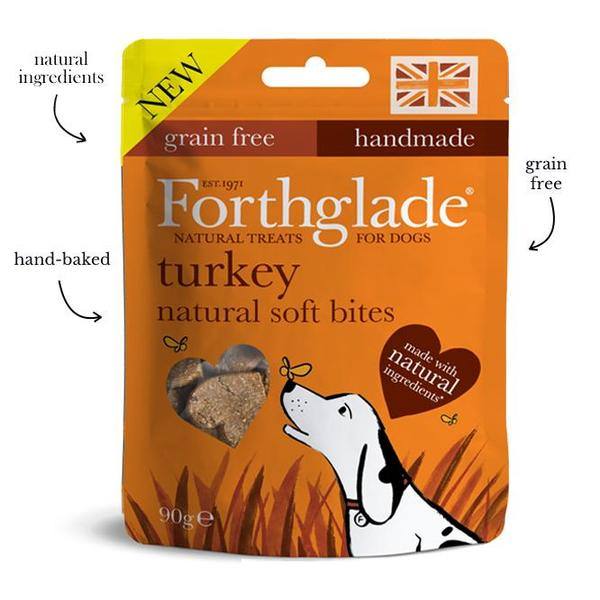 Forthglade turkey natural soft bites - 90g