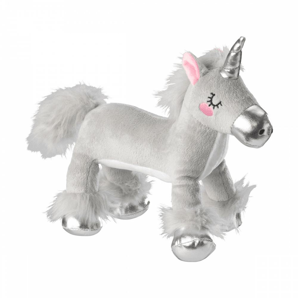 Plush Grey Unicorn