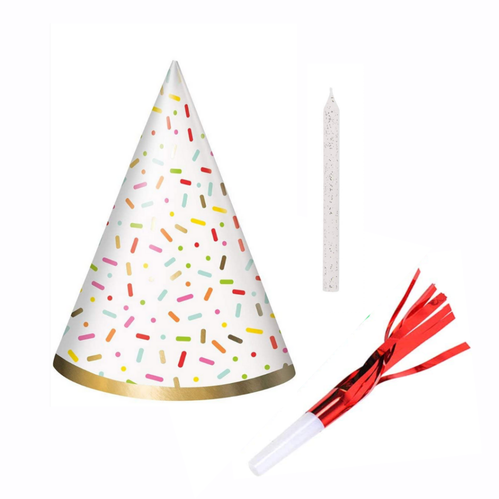 Party Pack - Hat, Candle & Streamer