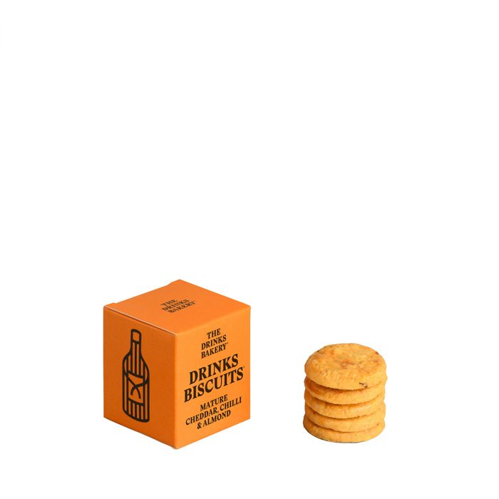 Drinks Biscuits - Mature Cheddar, Chilli & Almond 20g