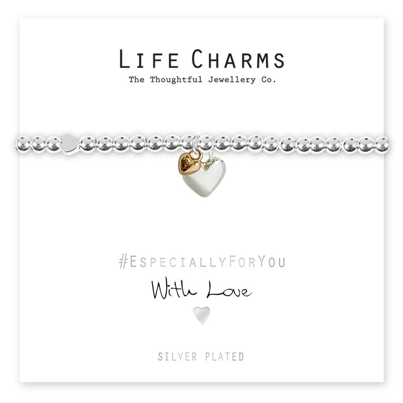 Silver puffed heart charm