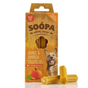 Soopa Pumpkin and Carrot Dental Sticks - 100g